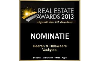 Hillewaere Vastgoed genomineerd op Real Estate Awards