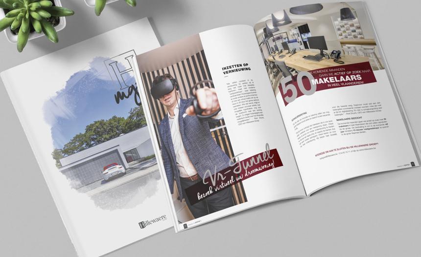 Nieuw Hillewaere magazine nu in uw vastgoedshop
