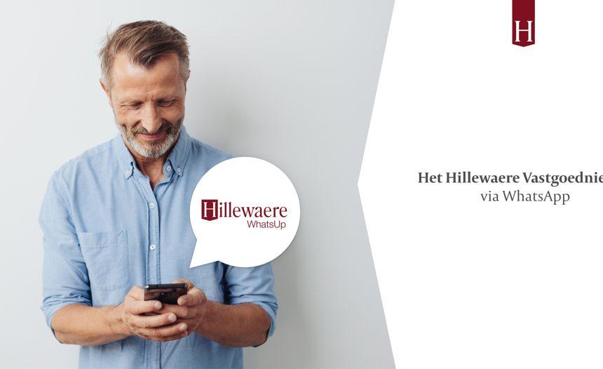Hillewaere WhatsUp: ontvang ons vastgoednieuws nu ook via WhatsApp