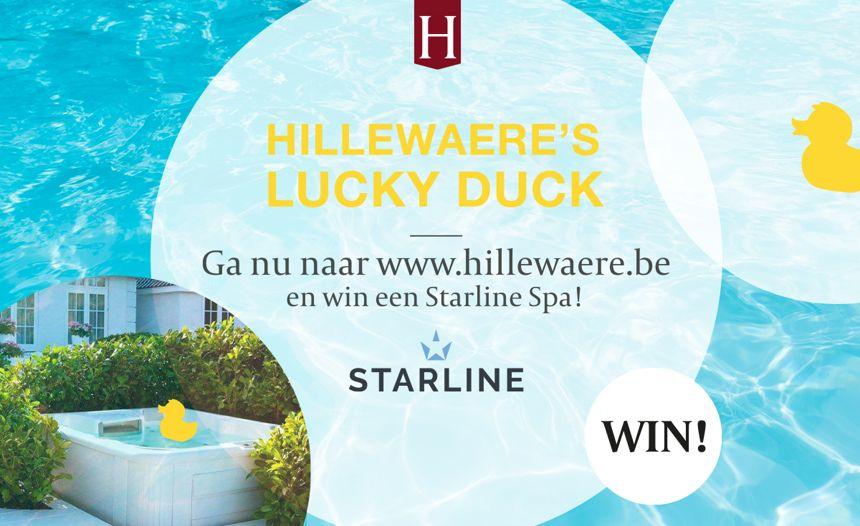 WIN! Ben jij Hillewaere's Lucky Duck? Speel mee en maak kans op een fantastische Starline Spa *AFGELOPEN*