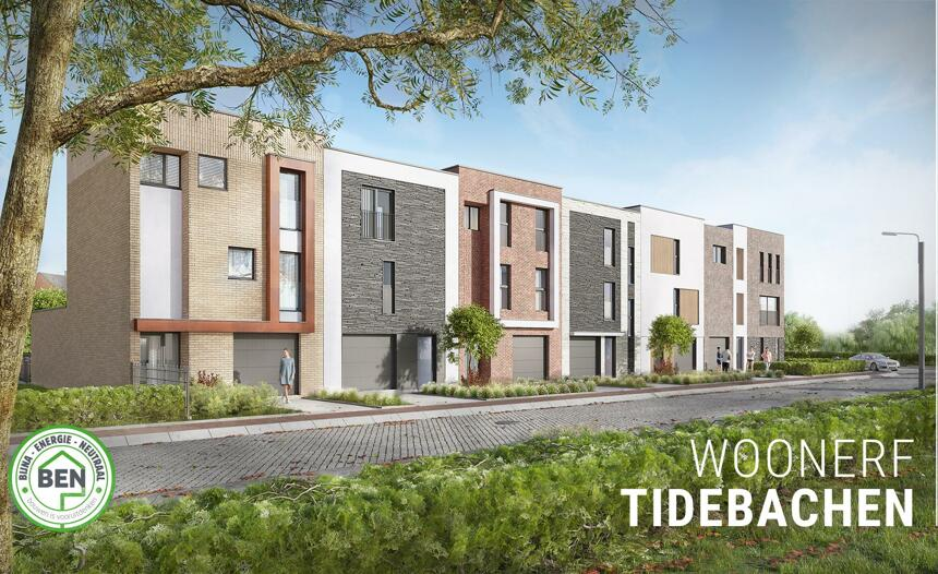 Woonerf Tidebachen: 11 moderne BEN-woningen in het centrum van Diepenbeek