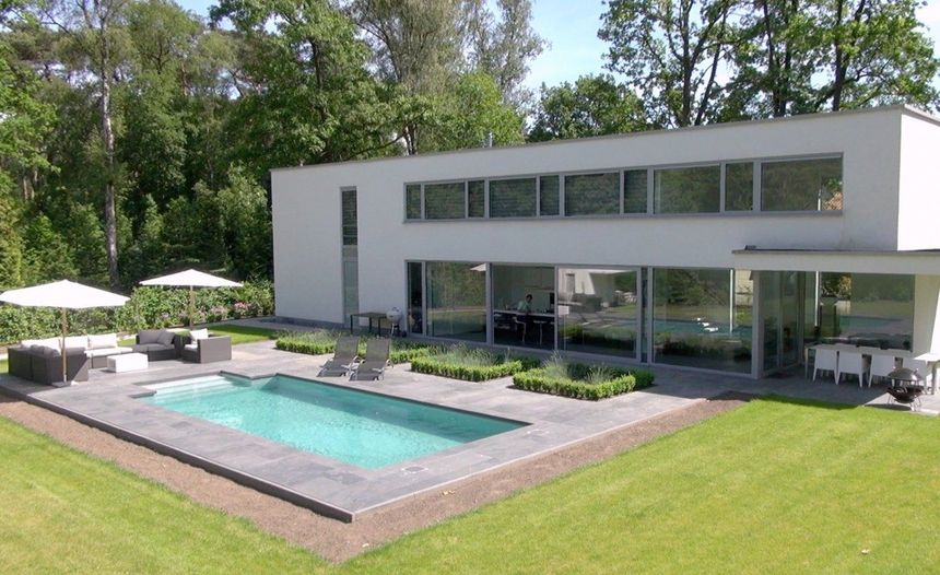 Bekijk de VASTGOEDFILM van deze moderne villa te koop in Retie